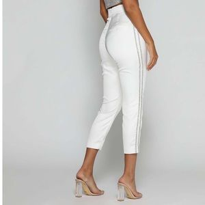NELLA DIAMANTE TROUSERS - WHITE